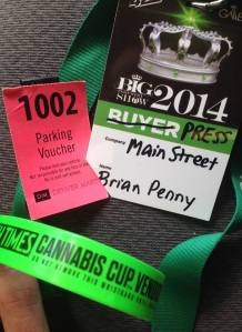 Brian Penny cannabis cup media credentials
