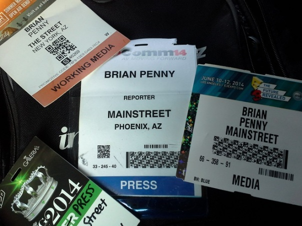 Brian Penny Press Credentials Infocomm E3 PAX Outdoor Retailers CES Cannabis Cup