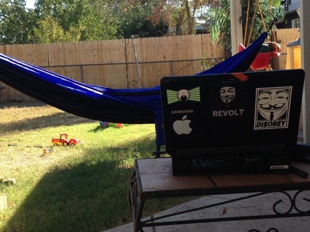 Brian Penny laptop hammock anonymous