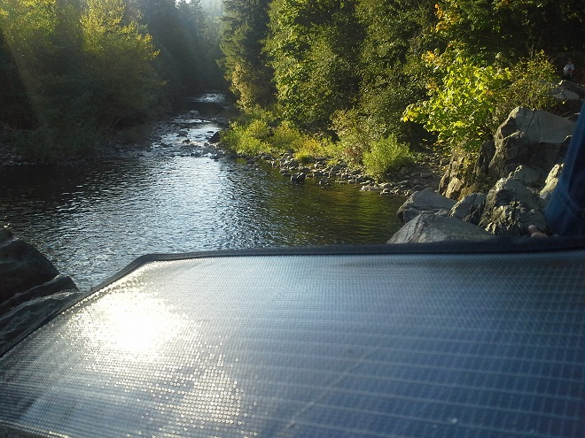 portable solar panel over water versability