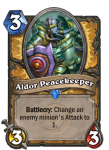 Aldor Peacekeeper Hearthstone Paladin Hero Card Build