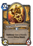 Argent Protector Hearthstone Paladin Card