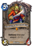 Captain Greenskin Legendary Hearthstone Card