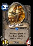 Demolisher Hearthstone Card Pally Deck Build