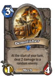 Demolisher Hearthstone Card Pally Deck Build