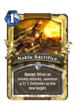 Hearsthone Noble Sacrifice Palladin Deck