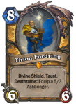 Legendary Tirion Fordring Paladin Hearthstone Card