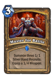 Muster for Battle Hearsthstone Paladin Card